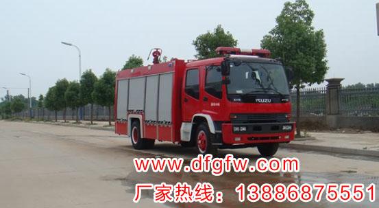 庆铃6吨水罐消防车