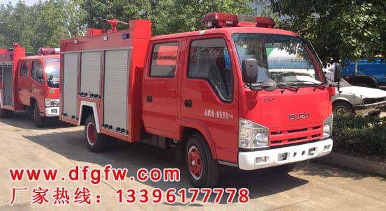 庆铃100P2吨水罐消防车
